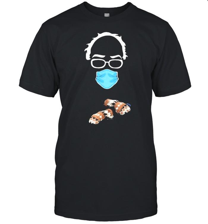 Bernie Sanders Mittens Meme Sitting Wearing Mask shirt Classic Men's T-shirt