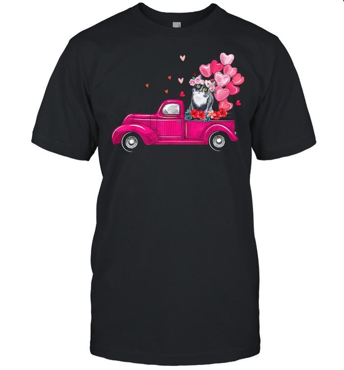Cute Truck Cat Valentines Day Costume Boy Girl shirt Classic Men's T-shirt