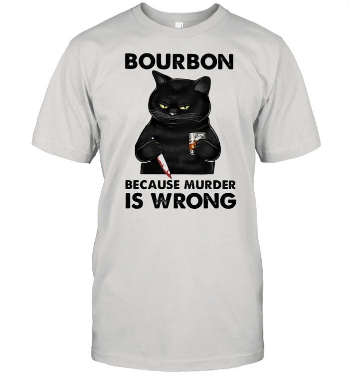 Bouron Because Murder Is Wrong Cat shirt Classic Men's T-shirt