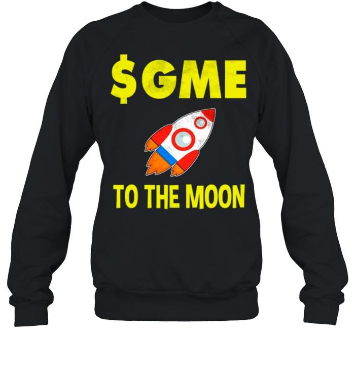 $GME To The Moon Ff GameStonk shirt Unisex Sweatshirt