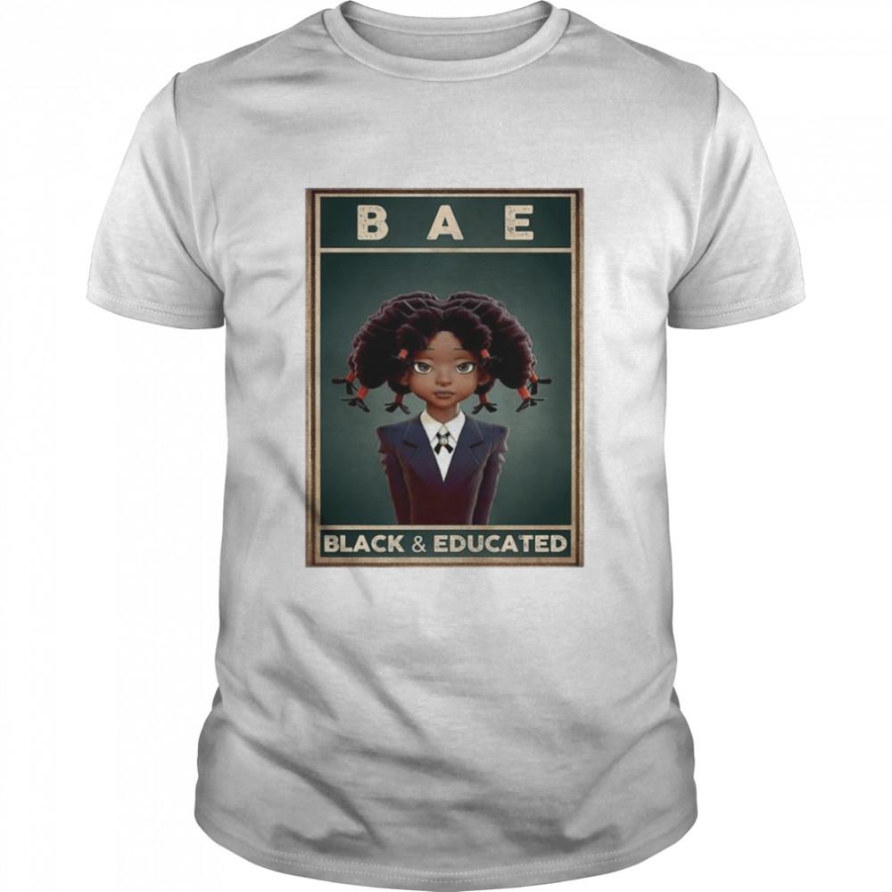 Bae black and educated 2021 shirt Classic Men's