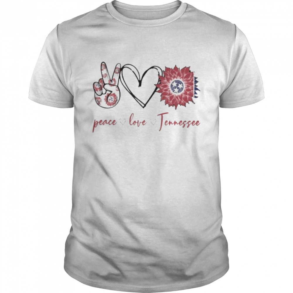 Peace love Tennessee flower shirt Classic Men's