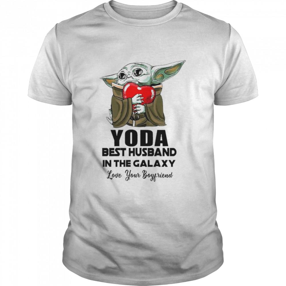 Yoda Best Husband In The Galaxy Love Your Boyfriend shirt Classic Men's