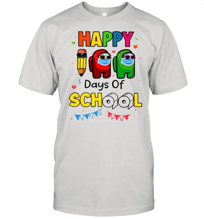 Among Us Impostor Face Mask Happy Days Of School 2021 shirt Classic Men's T-shirt