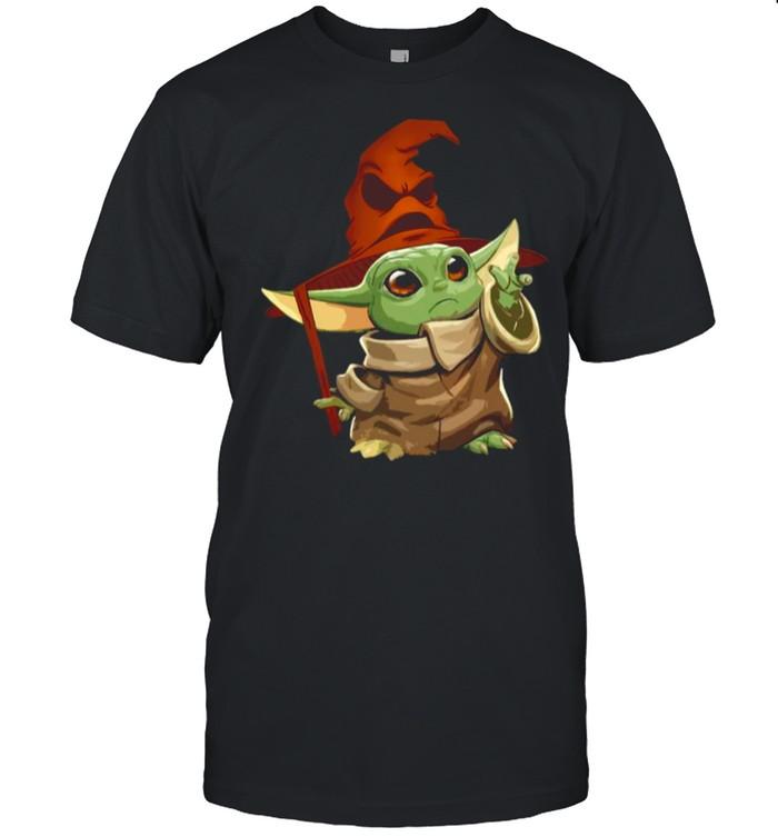 Baby Yoda Wearing Star Wars Harry Potter shirt Classic Men's T-shirt