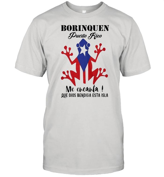 Borinquen puerto rico me encanta que dios bendiga esta isla american flag shirt Classic Men's T-shirt