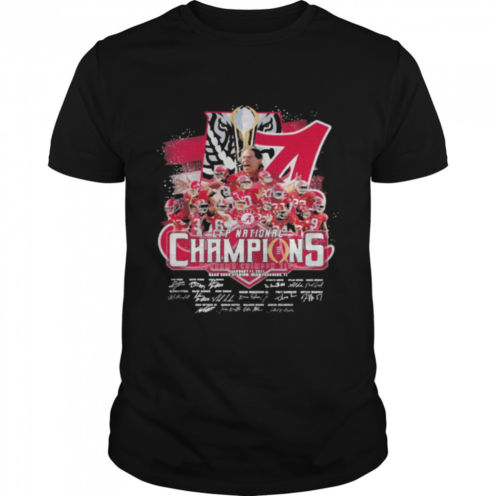 Cfp National Champions 2021 Alabama Team Football shirt Classic Men's