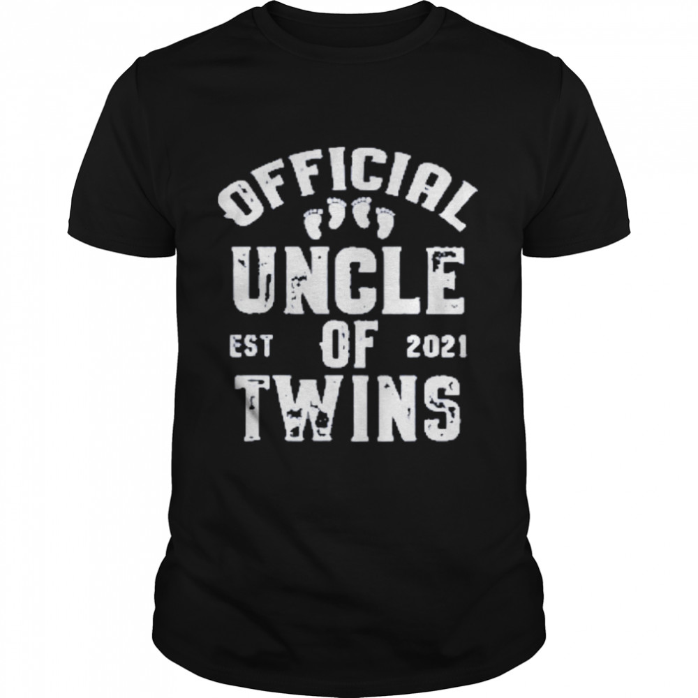official uncle of twins est 2021 fathers day shirt Classic Men's