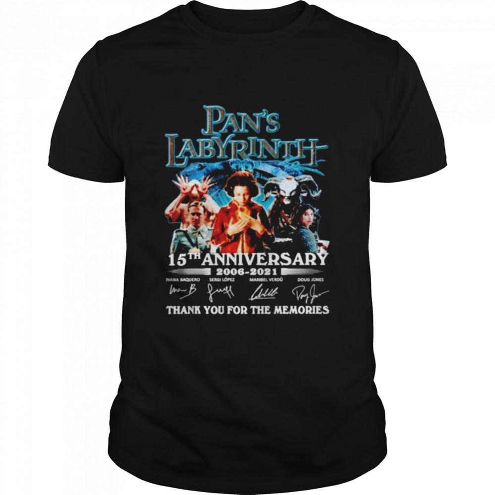 Pan's Labyrinth 15th anniversary 2006 2021 thank you for the memories shirt Classic Men's