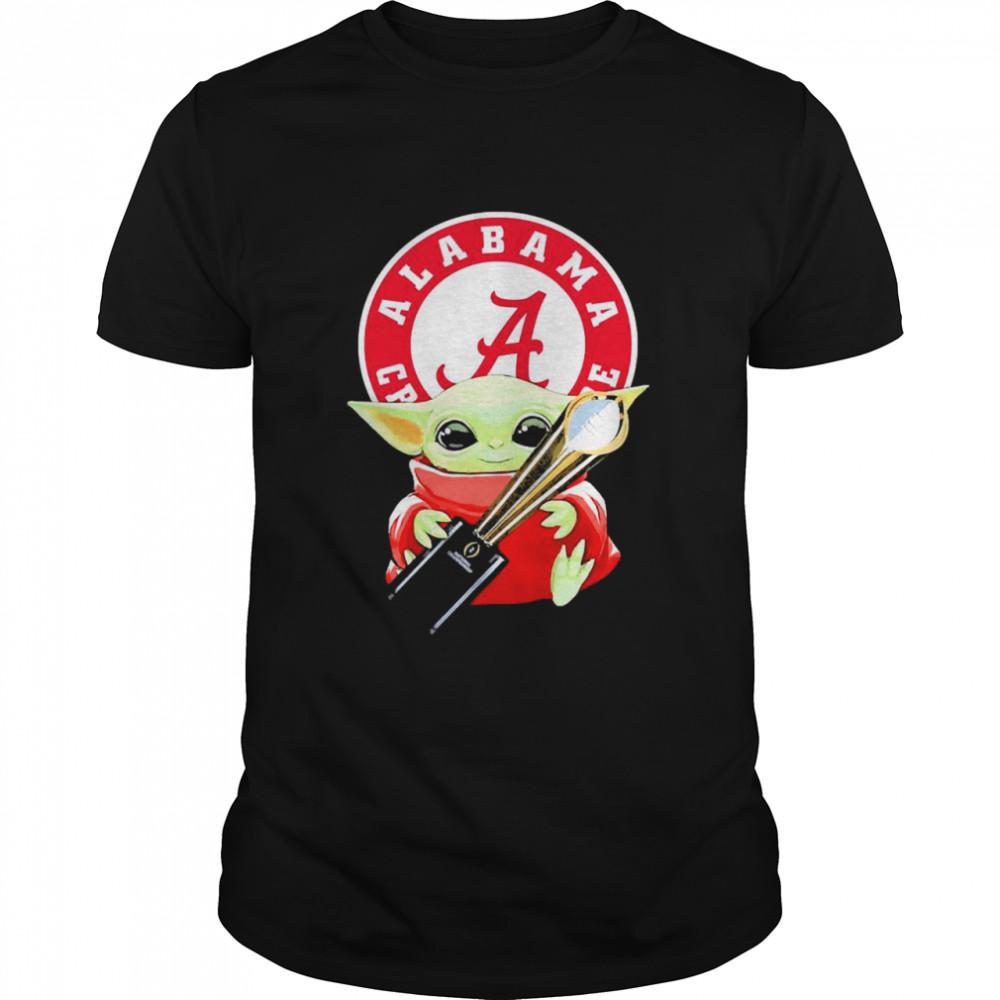 Baby Yoda hug Alabama Crimson Tide shirt Classic Men's
