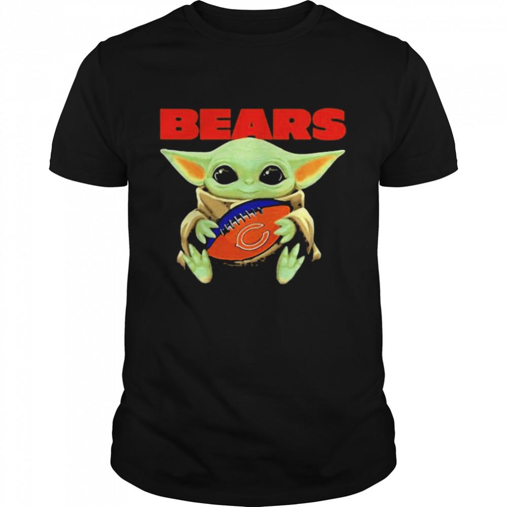 Baby Yoda Loves The Chicago Bears Star Wars shirt Classic Men's