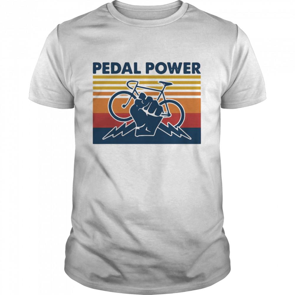Bicycle Pedal Power Vintage Retro shirt Classic Men's