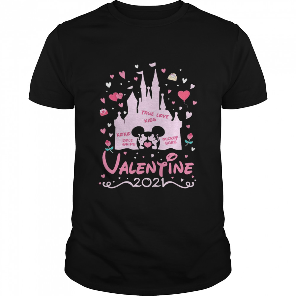 Mickey Mouse And Minnie Mouse Valentine Disney 2021 shirt Classic Men's
