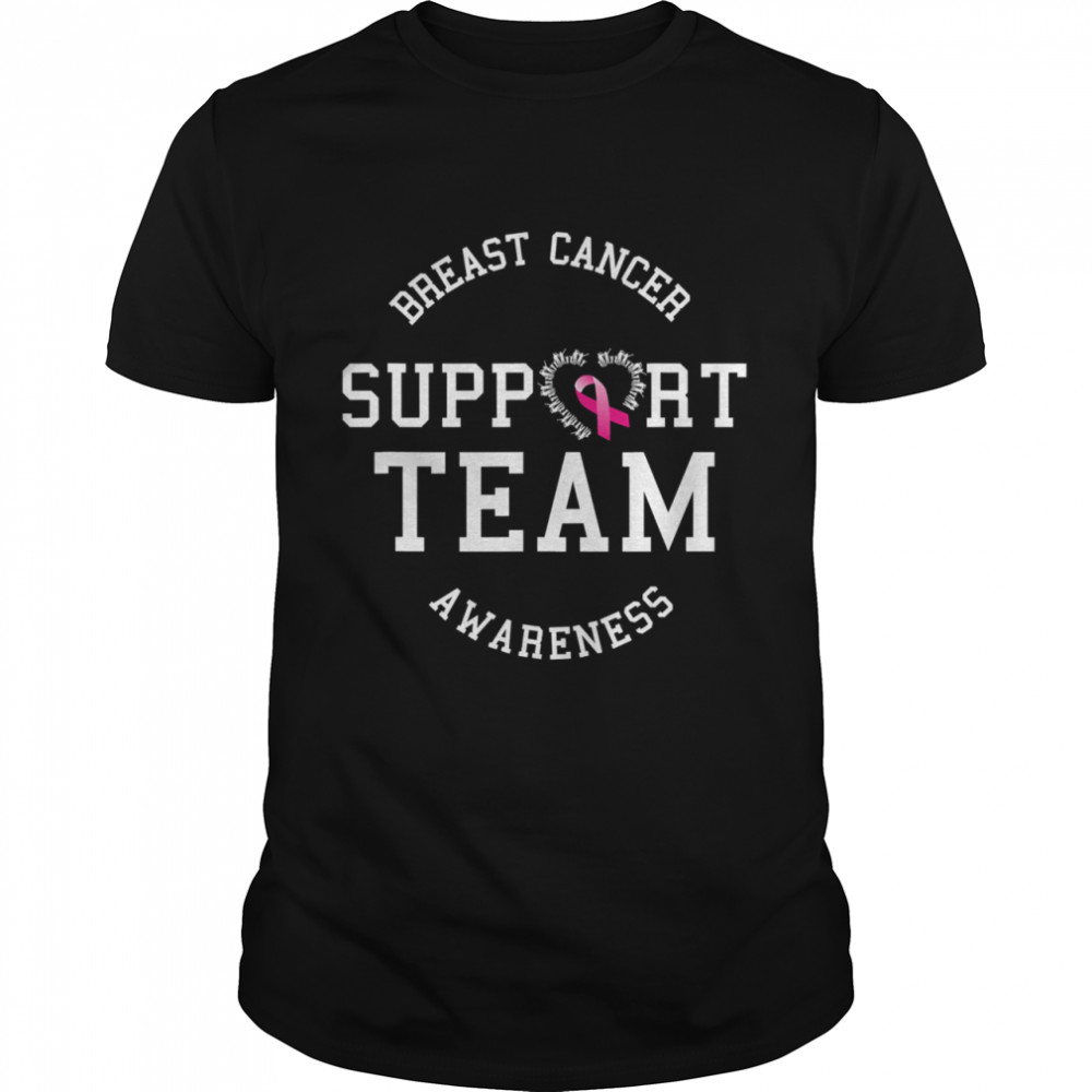 Breast Cancer Support Team Awareness Ribbon Pink shirt Classic Men's