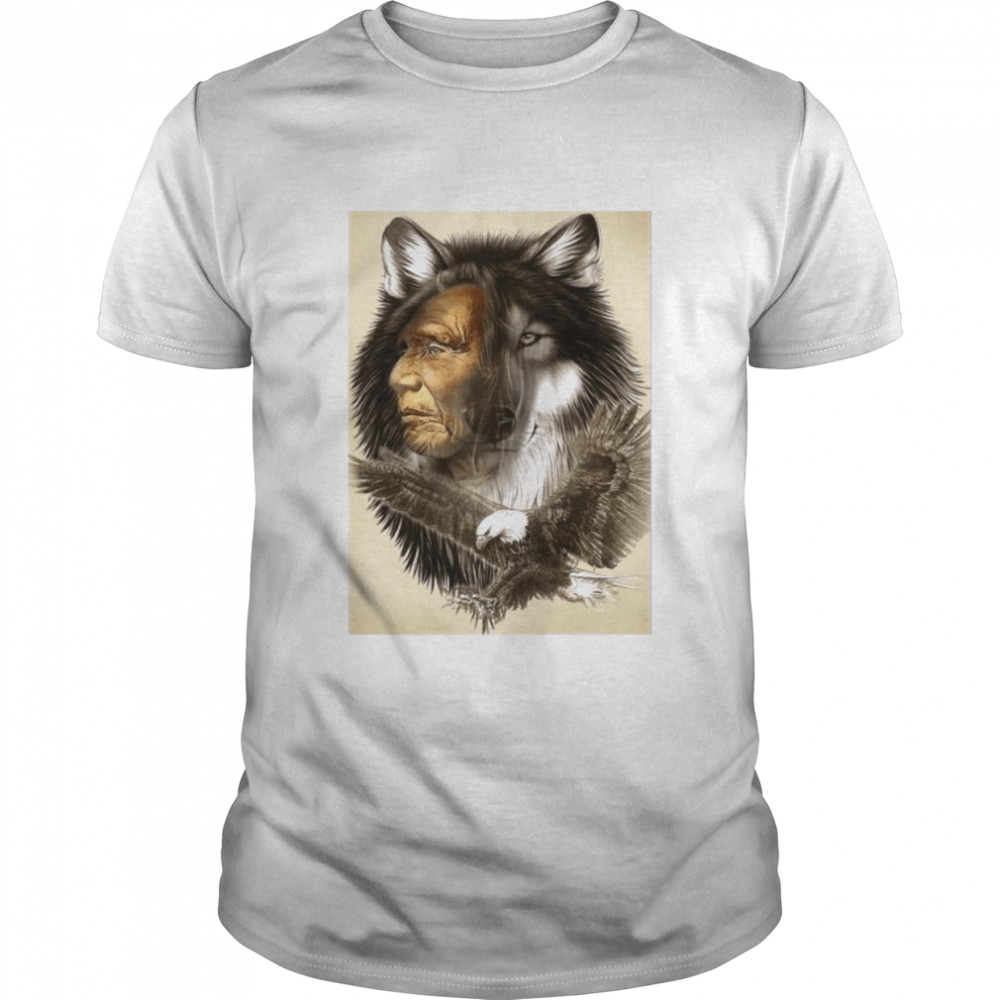 Wolf Eagle Chief shirt Classic Men's