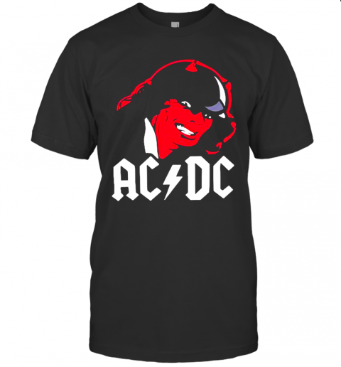 Angus Young Satan ACDC Hard Rock Band shirt Classic Men's