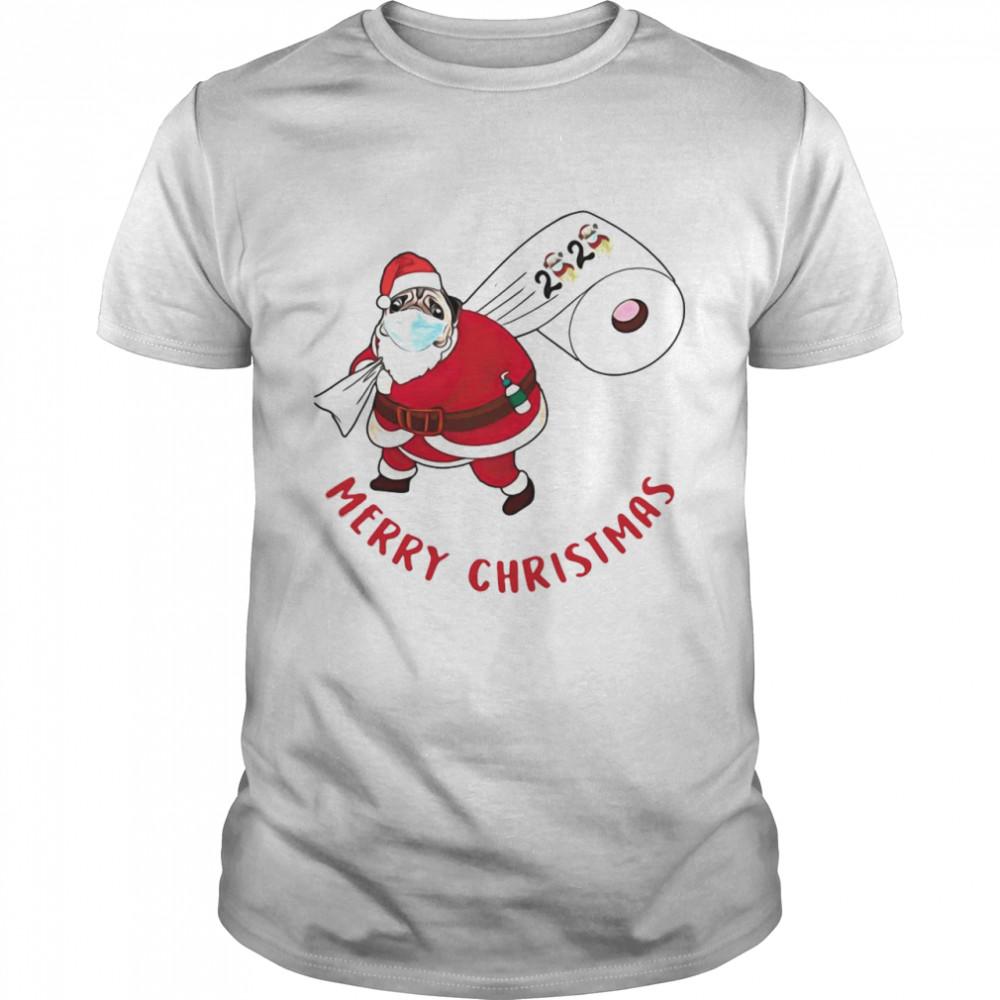 Pug Santa Merry Christmas Toilet Paper 2020 shirt Classic Men's