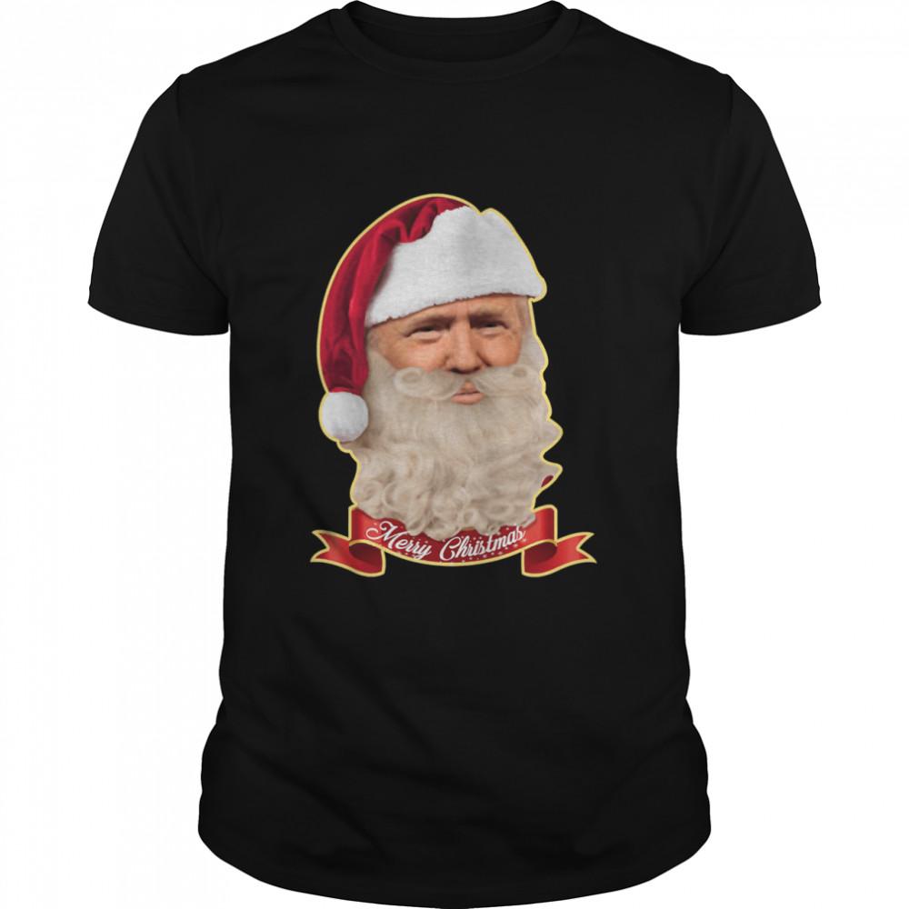Merry Christmas Santa Trump Claus Make Christmas Great Again shirt Classic Men's