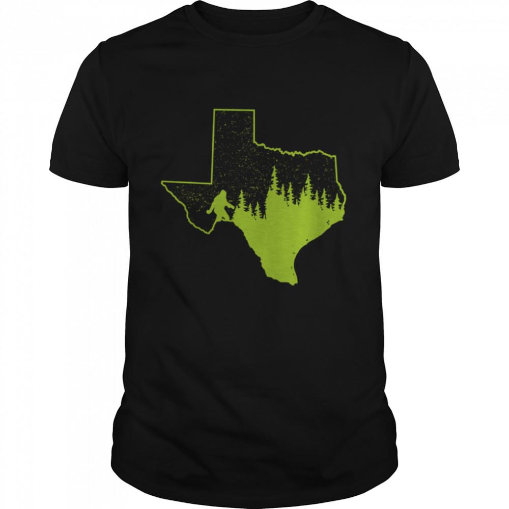 Texas Bigfoot Sasquatch Silhouette State Pride Nature shirt Classic Men's