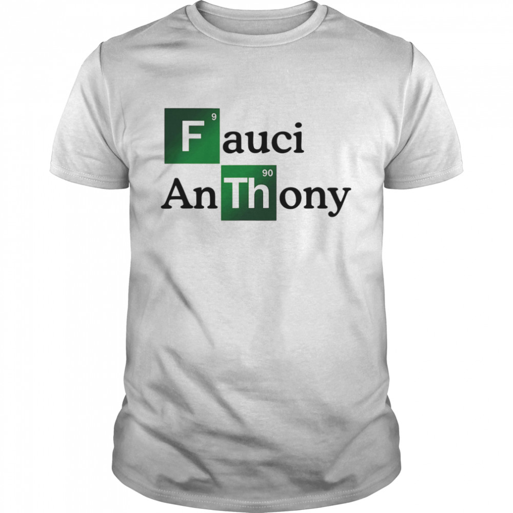 Fauci Anthony We Trust In Science Chemistry Wear A Mask Not Morons shirt Classic Men's