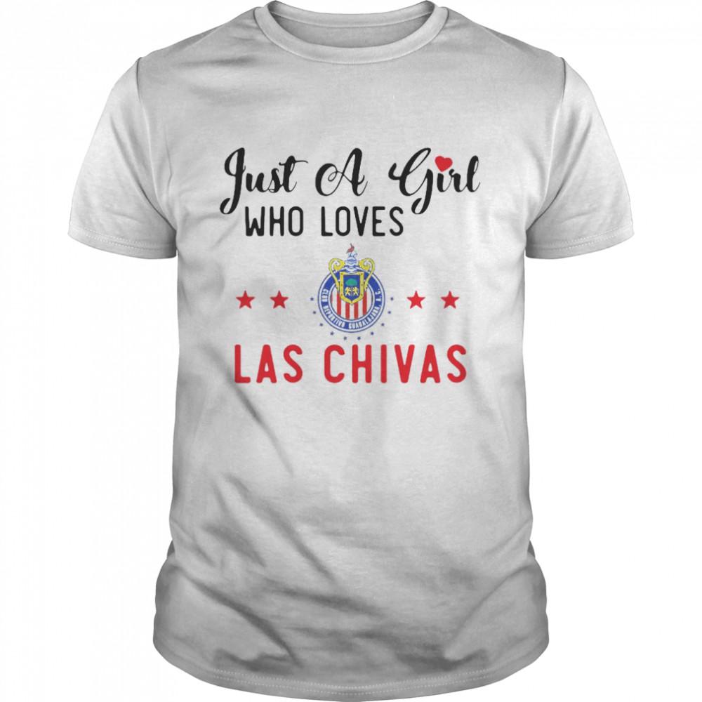 Just A Girl Who Loves Las Chivas De Guadalajara Soccer Gift Pullover shirt Classic Men's
