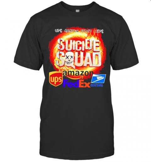 Suicide Squad Amazon Ups Fedex And United States Postal Servce shirt Classic Men's