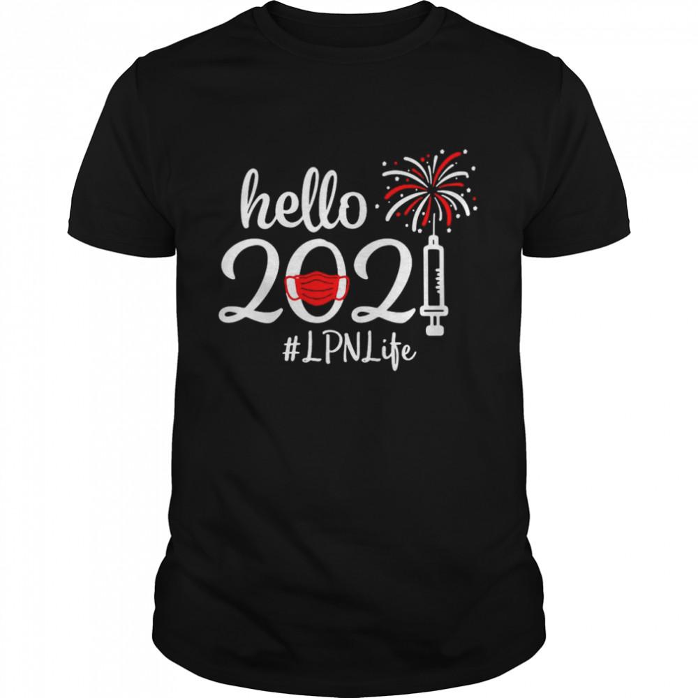 Hello 2021 LPN Life Face Mask Christmas shirt Classic Men's