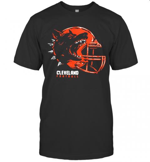 Play Vicious Cleveland Football Helmet Hooded shirt Classic Men's