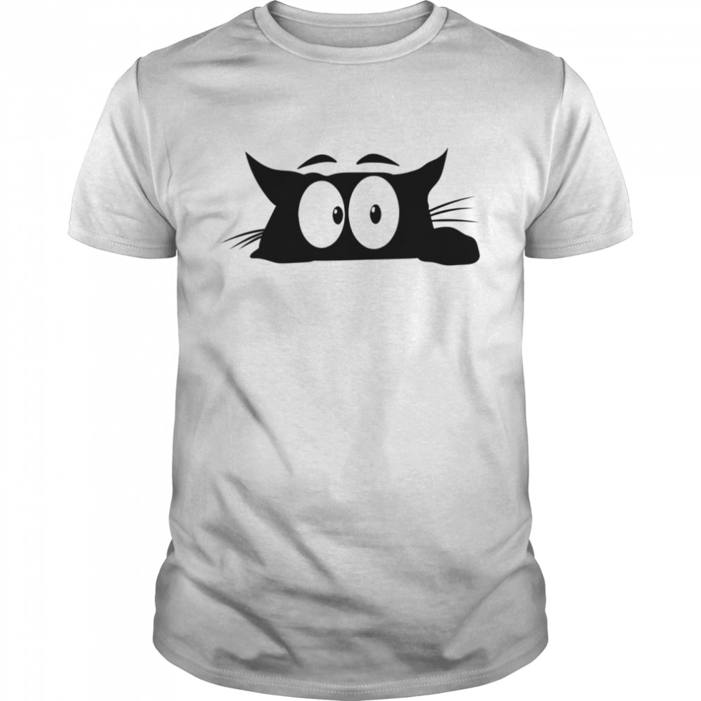 The black cat with white eyes looks bored shirt Classic Men's