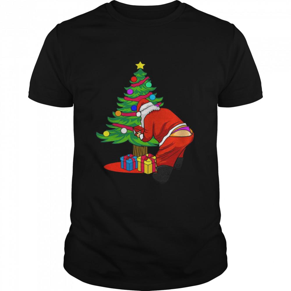 Gay Santa Christmas LGBT Santa Claus shirt Classic Men's