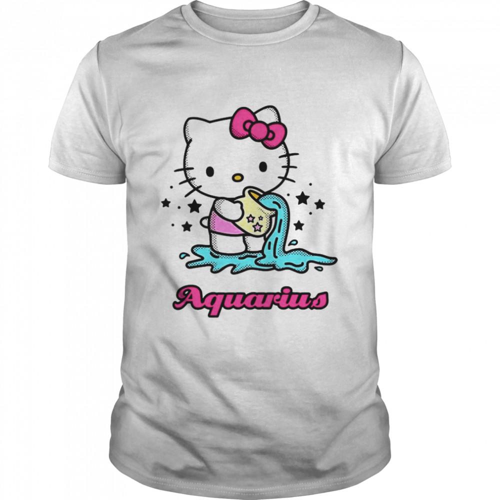 Hello Kitty Zodiac Aquarius shirt Classic Men's