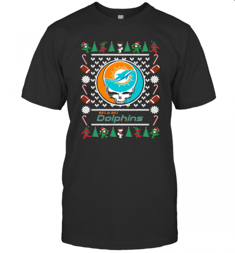 Miami Dolphins Grateful Dead Ugly Christmas shirt Classic Men's