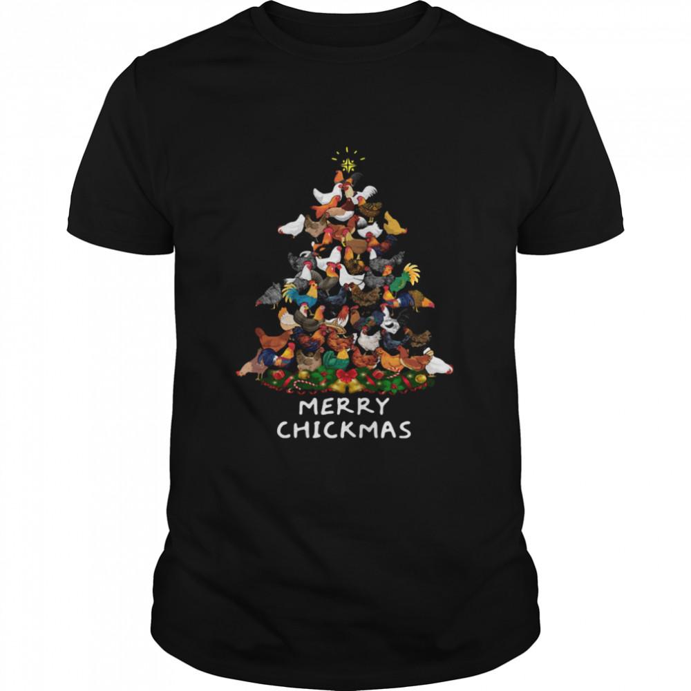 Chicken Tree Merry Chickmas shirt Classic Men's