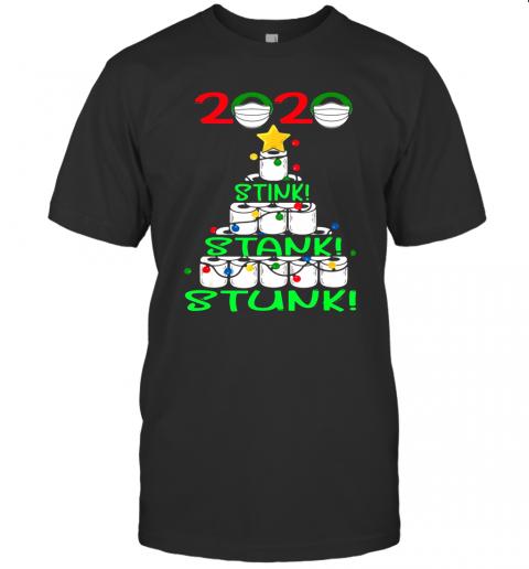 2020 Stink Stank Stunk Funny Quarantine Ugly Christmas Tree shirt Classic Men's