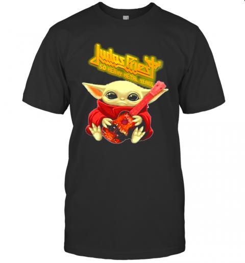 Judas Priest To Play 50 Heavy Metal Years Yoda Guitar shirt Classic Men's