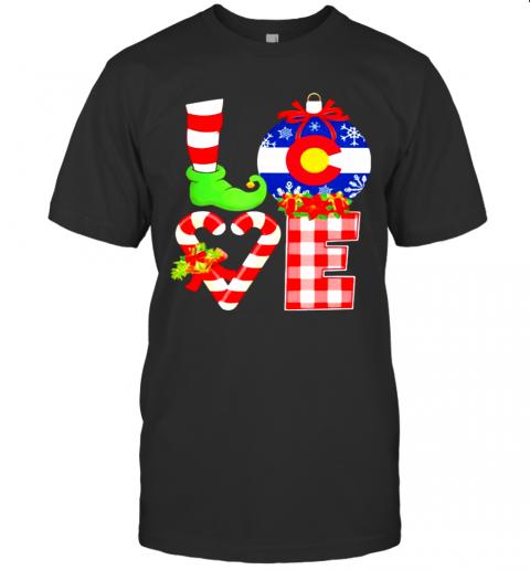 Love Flag Of Colorado Elf Pajama Christmas shirt shirt Classic Men's