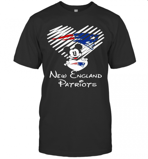 Mickey Mouse Love New England Patriots shirt Classic Men's