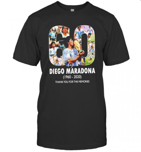60 Years Diego Maradona 1960 2020 Thank You For The Memories shirt Classic Men's