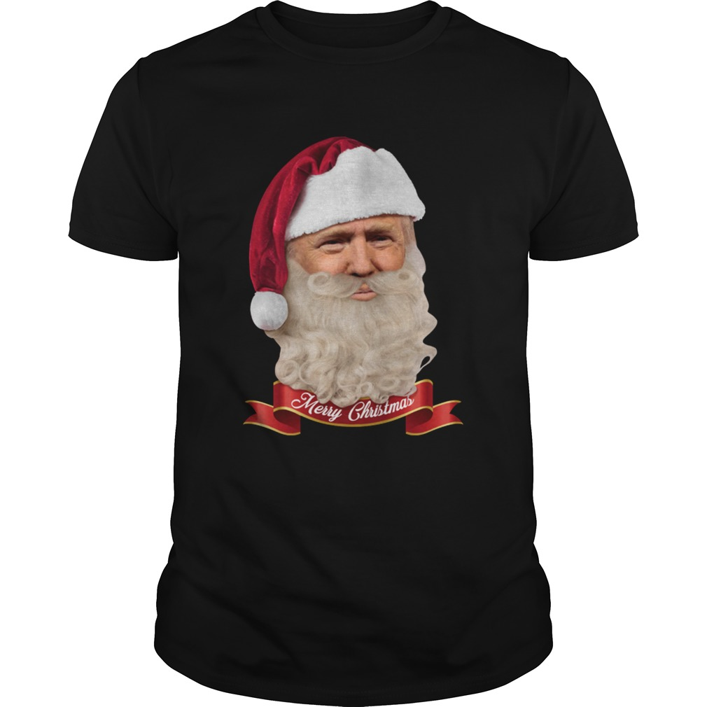 Donald Trump Santa Claus Merry Christmas shirt Classic Men's