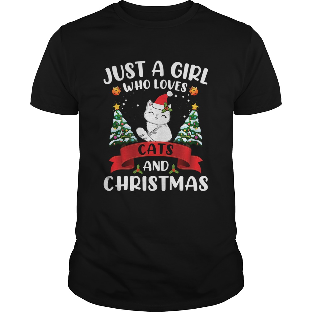 Just A Girl Who Loves Cat And Christmas Gift Christmas shirt Classic Men's
