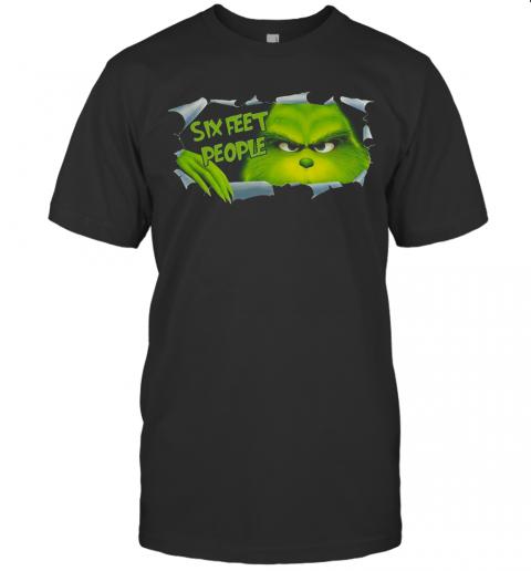 Hiding Grinch Quaratine Six Feet People shirt Classic Men's