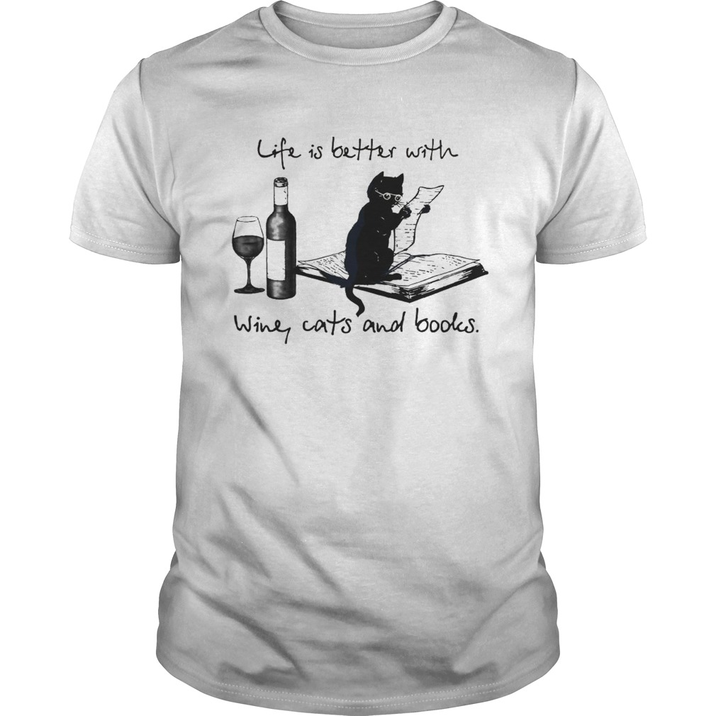 Life Is Better WIth Wine Cays And Books shirt Classic Men's