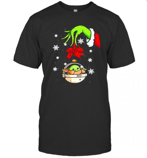 Merry Christmas Grinch Holding Baby Yoda shirt Classic Men's