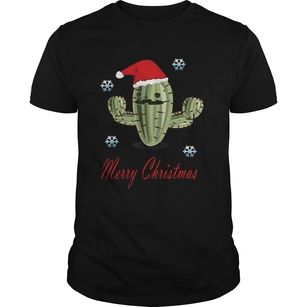 Cactus Santa Merry Christmas Succulent Plants shirt Classic Men's