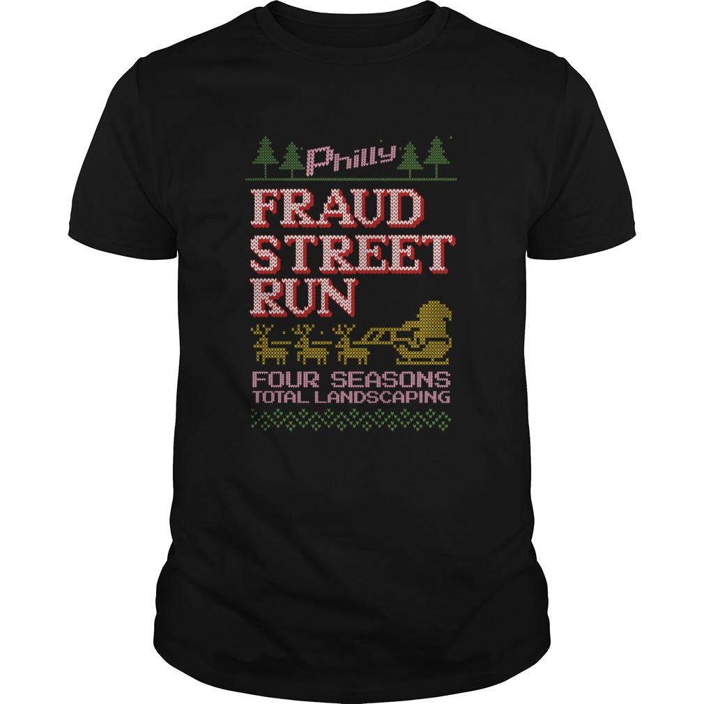 Fraud Street Run Ugly Christmas Sweater Fraud Street Run shirt Classic Men's