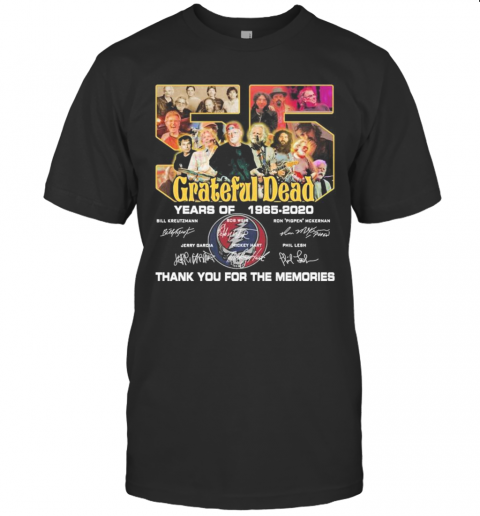 Grateful Dead 55 Years Of 1965 2020 Thank You For The Memories Signatures shirt Classic Men's