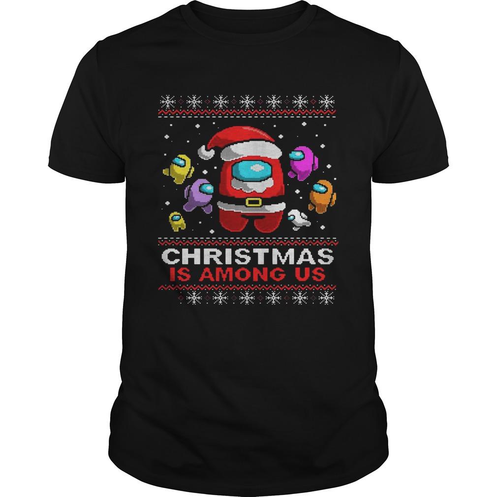 Christmas is Among Us Ugly Christmas Game shirt Classic Men's