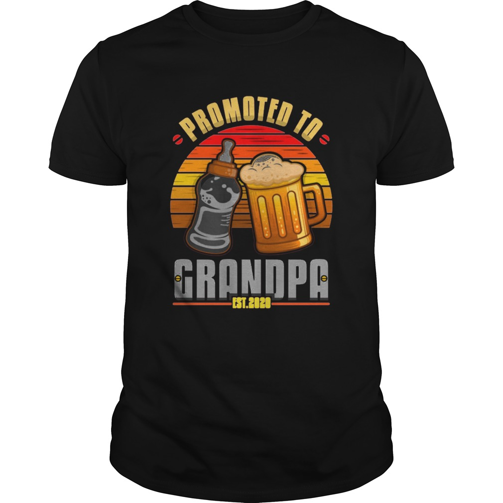 Promoted to grandpa shirt Classic Men's