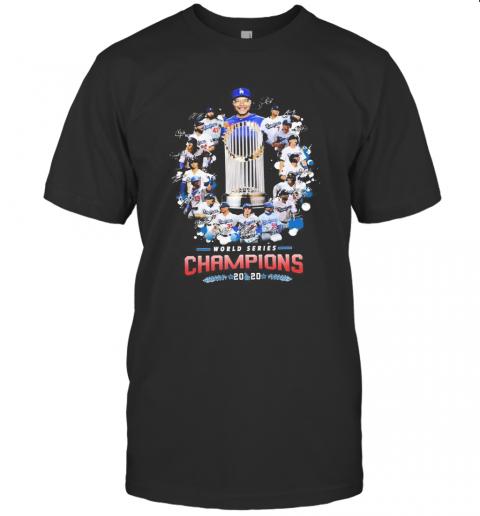 Los Angeles Dodgers World Series Champions 2020 Signatures shirt Classic Men's