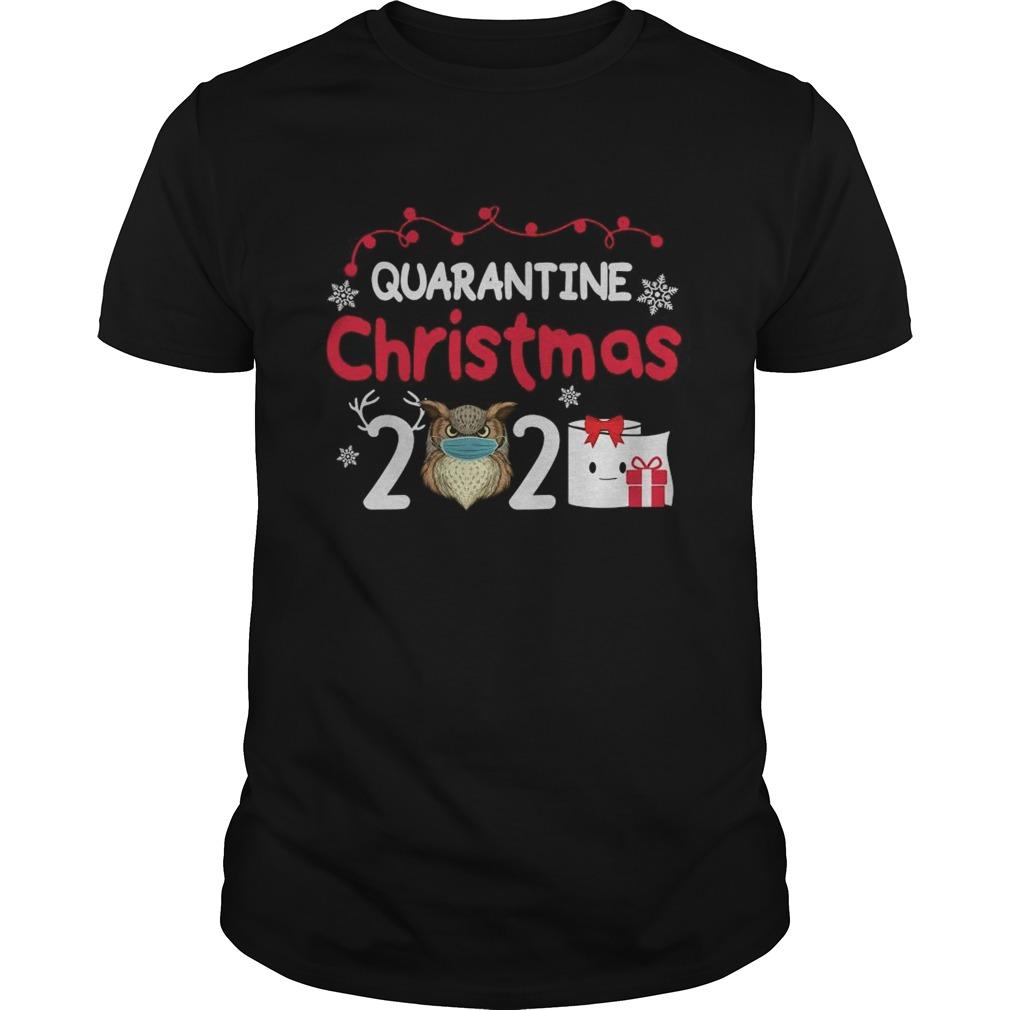 Quarantine Christmas Owl Mask Toilet Paper 2020 shirt Classic Men's